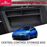 smabee car central armrest box for volkswagen vw golf 8 2020 golf8 interior accessories stowing tidying center console organizer
