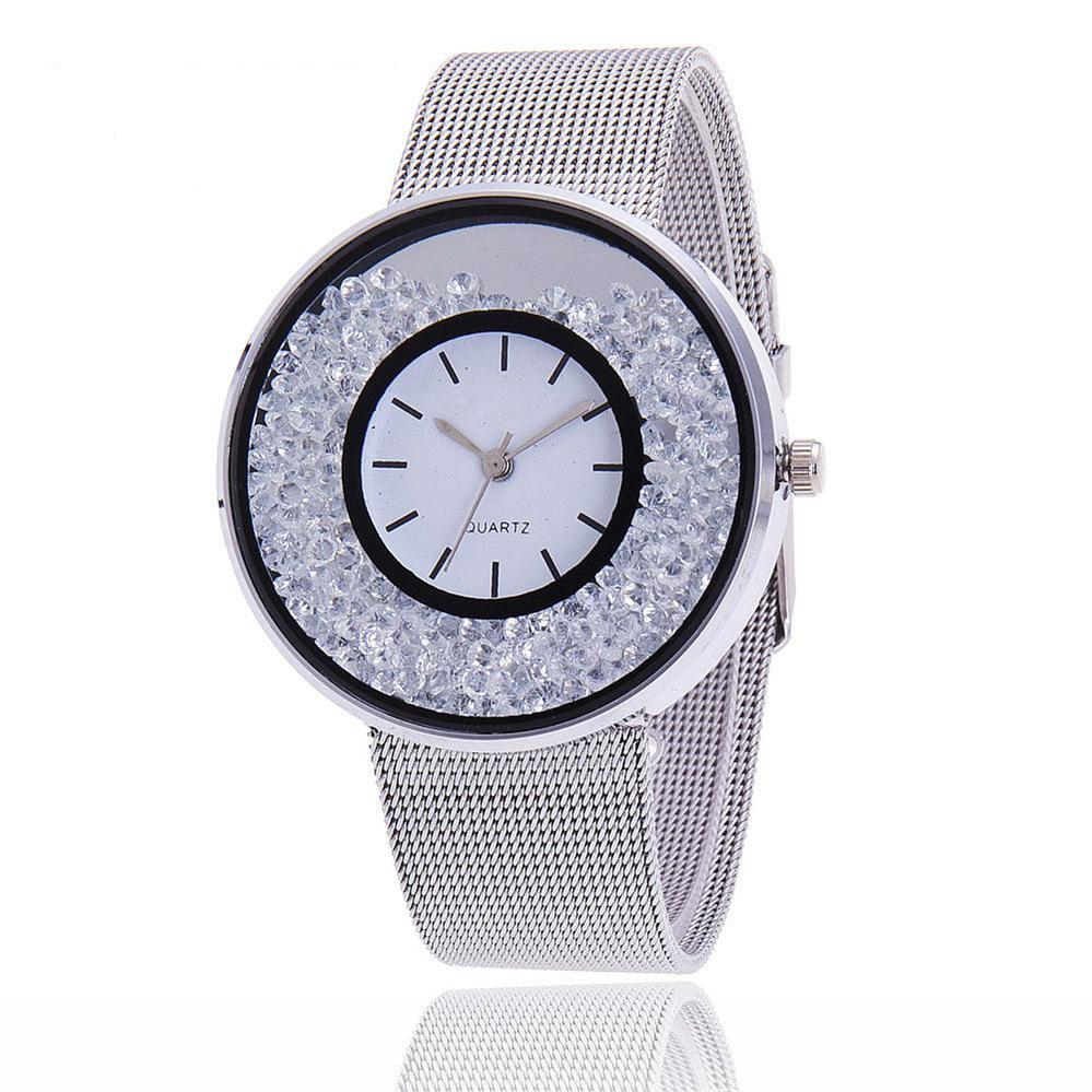 2018 Top Brand Women Luxury Gold & Silver Watch Women Fashion Band Dress Wristwatch Women Female Qua