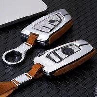 for bmw x1 x3 x4 x5 x6 e90 e60 e36 e93 f15 f16 f48 g30 f11 f30 high quality car suede leather key case holder cover accessories