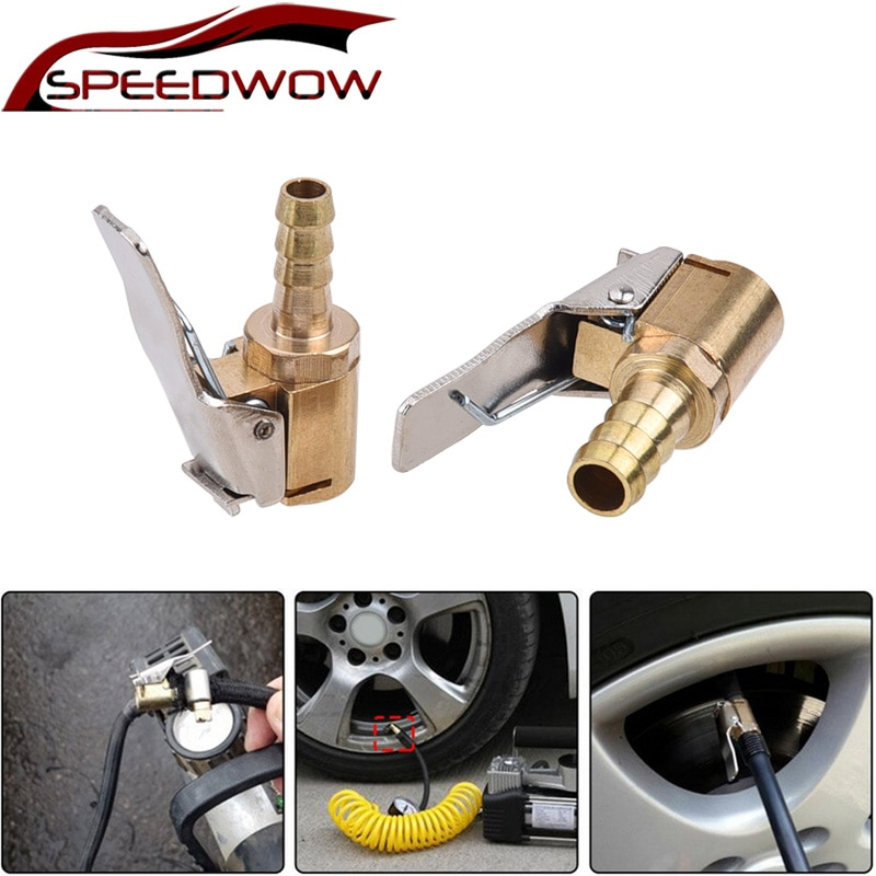 SPEEDWOW 1pcs Auto Air Pump Chuck Clip Car Truck Tyre Tire Inflator Valve Connector Car Accessories 6mm 8mm Clamp High Quality