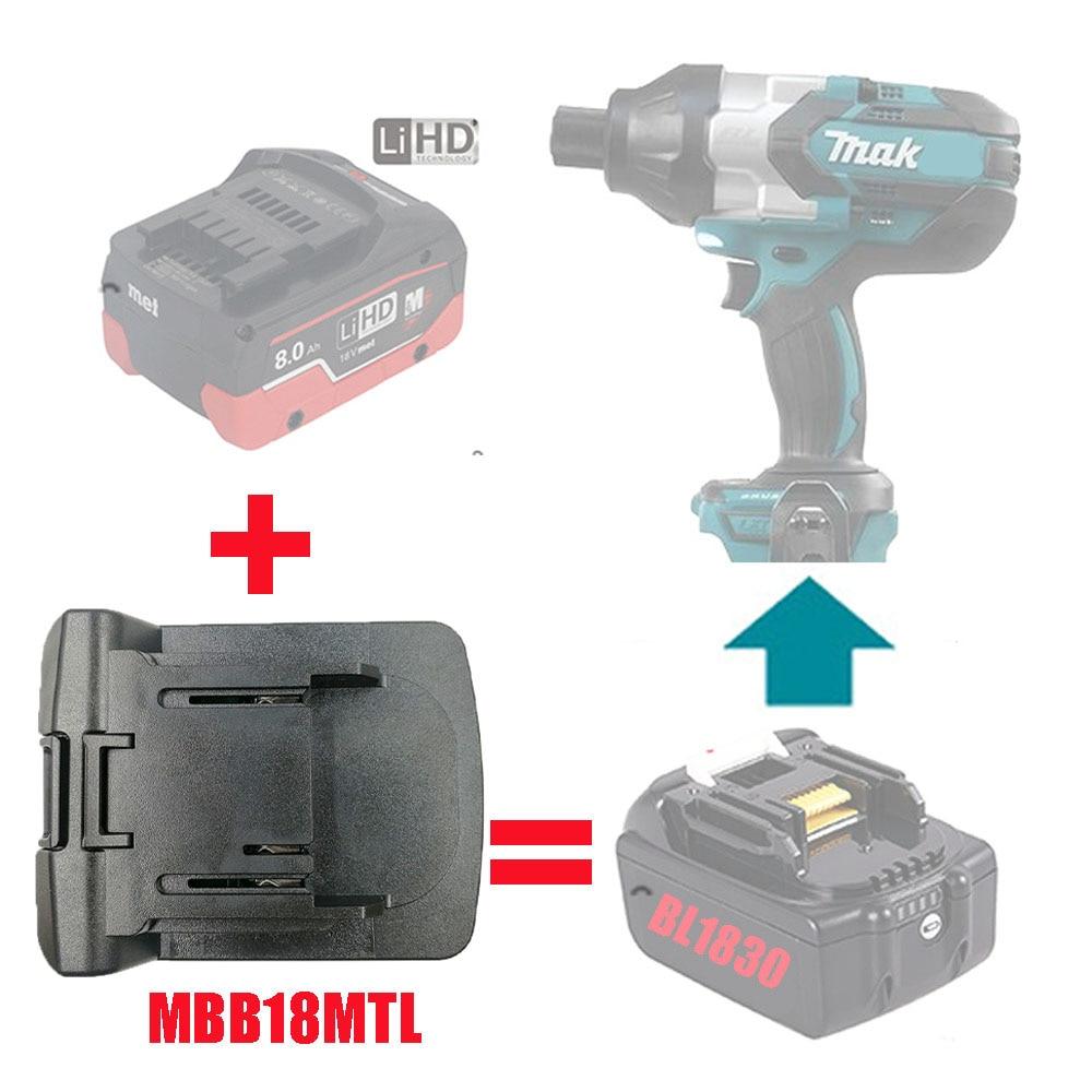 MBB18MTL محول أداة الطاقة الكهربائية استخدام ميتابو 18 فولت بطارية ليثيوم أيون محول على ماكيتا LXT آلة ليثيوم استبدال BL1830 BL1815