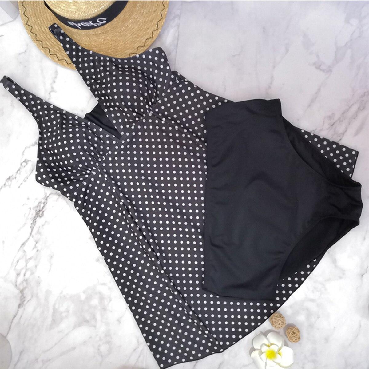 Nuevo traje de baño de maternidad Tankinis, Bikinis con lunares para mujer, traje de baño, ropa de playa, traje para embarazadas, traje de baño de talla grande para embarazadas