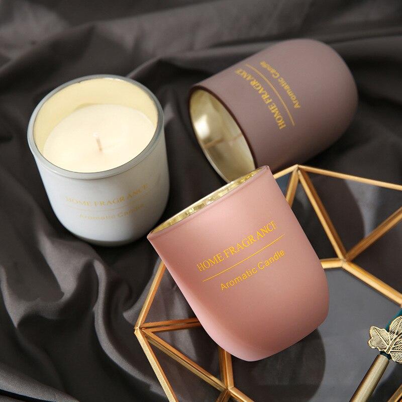 Velas aromáticas de cera de soja, vela clásica para decoración del hogar, vela sin humo para bodas, vela aromática, regalos de navidad