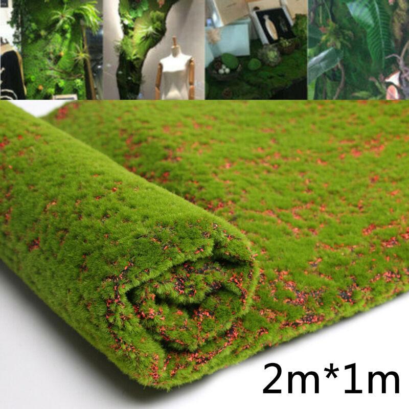 Artificial Moss Fake Green Plants Grass for Shop Patio Wall Decor DIY 1M*2M Lawn Wall Green Plant DIY Artificial Grass Board