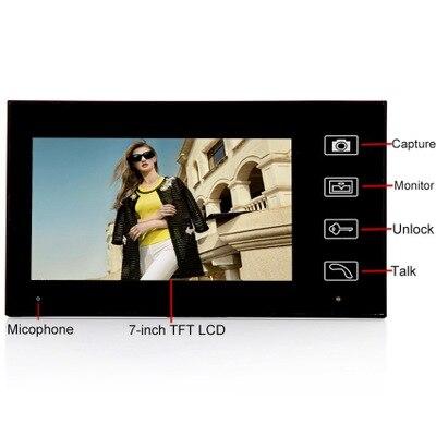 AnjielaSmart Wireless 7 Inch Built-in Battery Video Doorbell Villa Doorphone Intercom Equipment Remote Unlock Electronic Lock enlarge