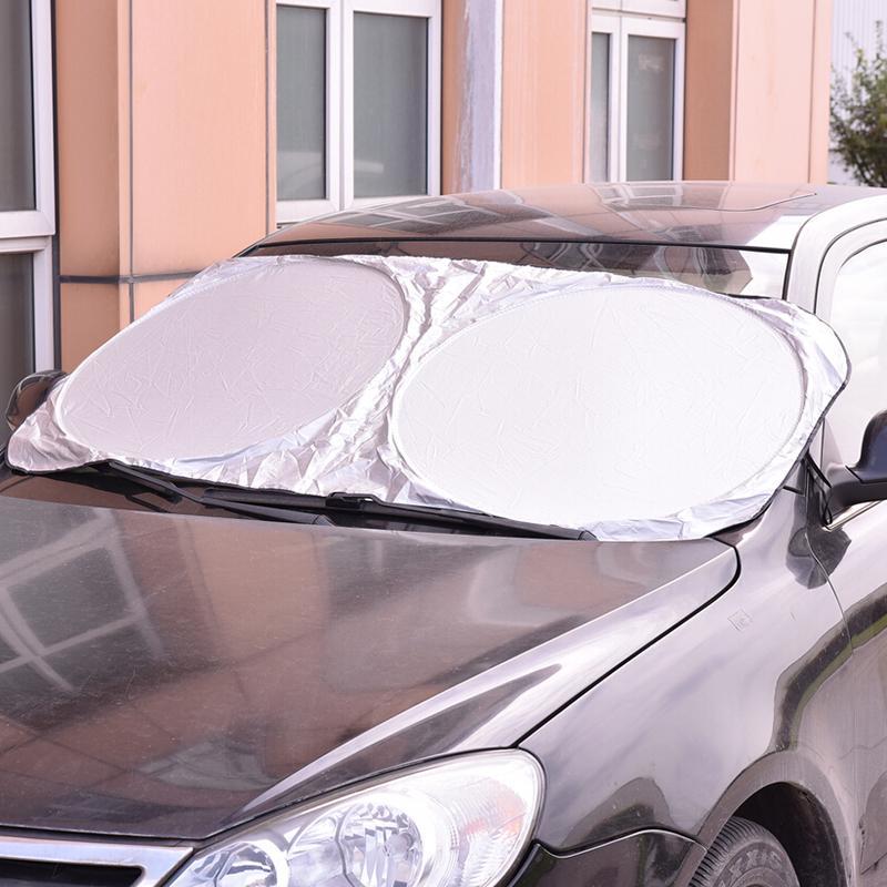 Car Window Film Folding Jumbo Front Rear Car Window Sun Shade Auto Visor Windshield Windscreen Sun Block Cover UV Protect 1PC