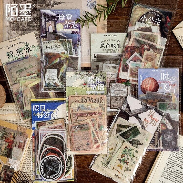 60 pcs/set Vintage Ins Stickers Pack Plant Decoration Diy Scrapbooking Stickers for Planner Bullet Journal Stikcers Stationery