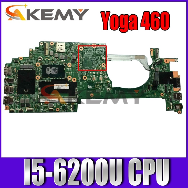 448.05106.0031 01HY662 اللوحة الرئيسية لينوفو اليوغا 460 اللوحة الأم مع SR2EY I5-6200U وحدة المعالجة المركزية DDR3L