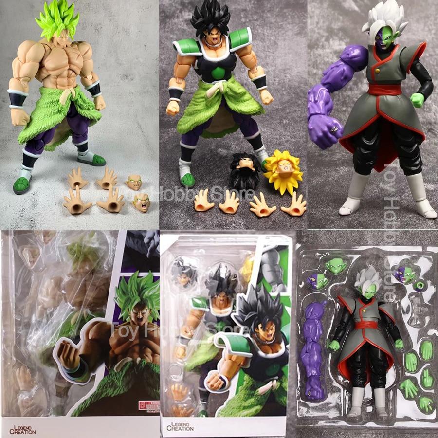 Figurines mobiles articulées de Broly de film superbe de boule de Dragon de SHF jouet figurine danime de boule de Dragon Super Saiyan Zamasu jouets 22cm