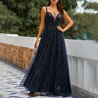 summer 2021 western style new v neck backless slim sexy solid color womens dress temperament high waist elegant evening dress