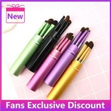 2021 New Professional Makeup Brushes Set Portable Travel Set Mini Eyeshadow Eyeliner Eyebrow Lip Bru