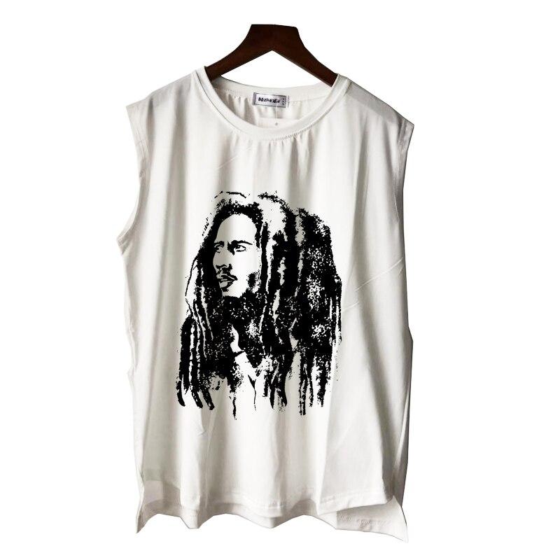 Мужская футболка с принтом rasta reggae rock star модная повседневная круглым вырезом и