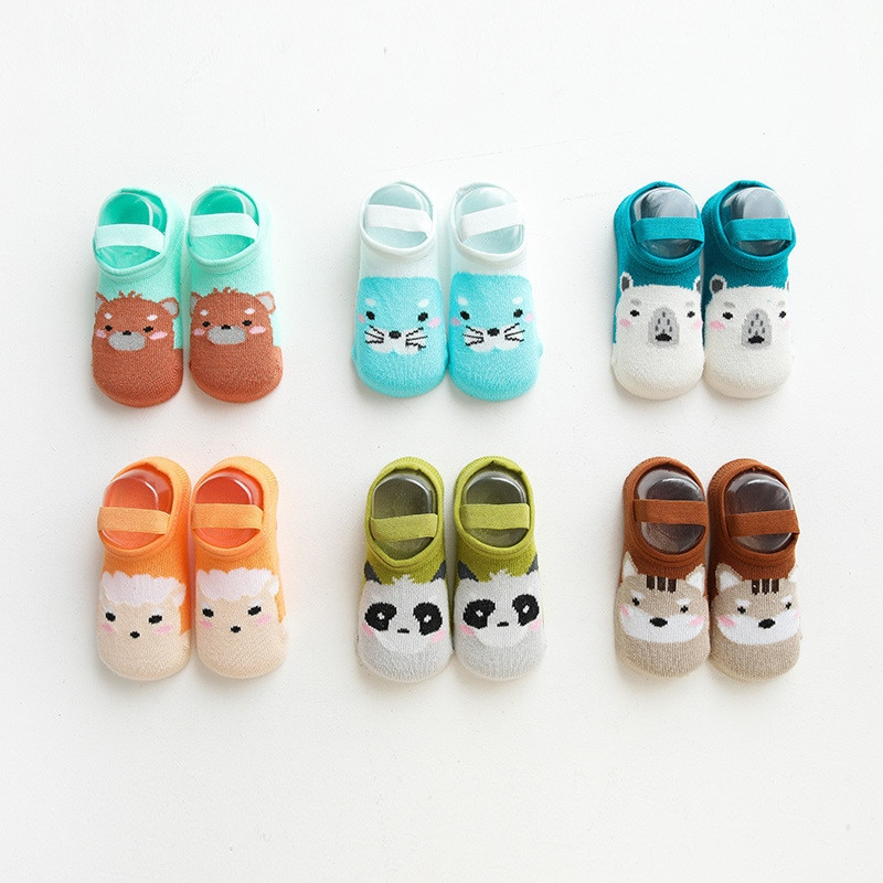Newborn Baby Socks Cartoon Baby Boy Socks Anti Slip Socks for Girls Casual Cotton Baby Floor Room Sh