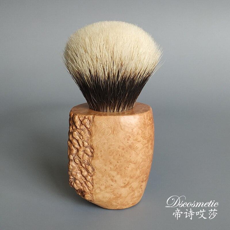 Pêlos de Texugo Escova de Madeira do Punho Dscosmetic Manchúria Barbear Shaving Brush Knots 26mm