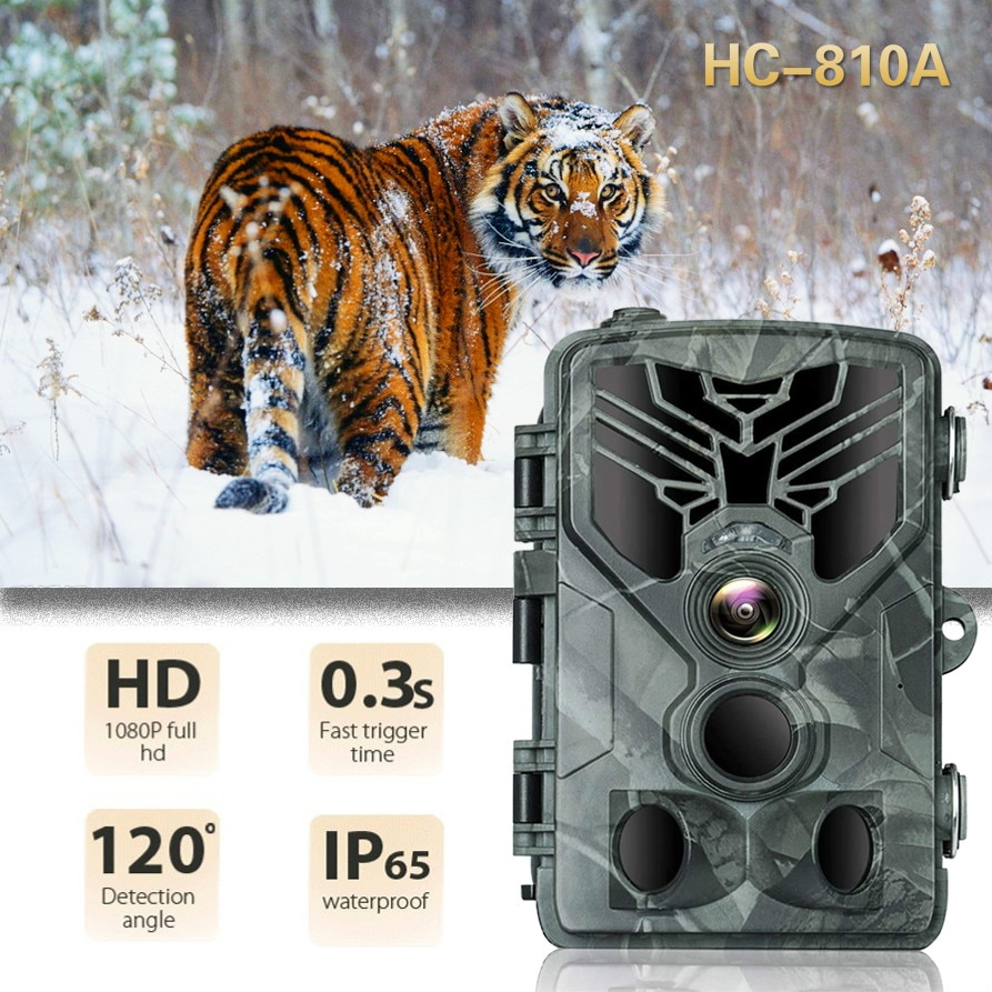 For Hunting Camera Photo Trap 16MP Wildlife Trail Night Video Trail Thermal Imager Video Cameras Hunting Scouting Game HC-810A недорого