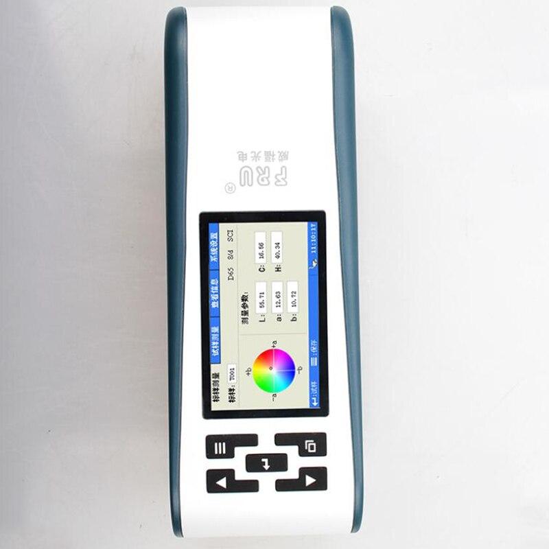 FRU WF32-4 كفاءة استخدام مقياس الألوان الدقيق للنسيج والطباعة والصباغة والملابس وقياس فاصل 0.5 ثانية.