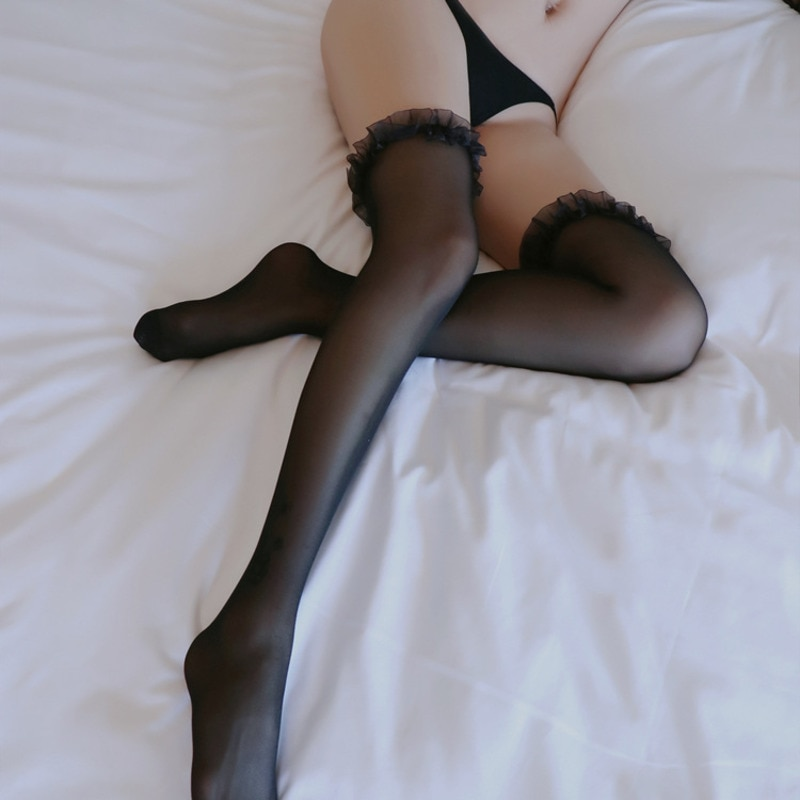 NEW Thighs High Stockings Women's Stockings Open Crotch Sexy Lingerie Erotic Pantyhose Porn Novelty