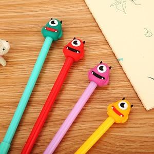 20 PCs Creative Cartoon One-Eyed Beast Gel Pen Cute Student Stationery Water-Based Paint Pen Office Supplies Signature Pen