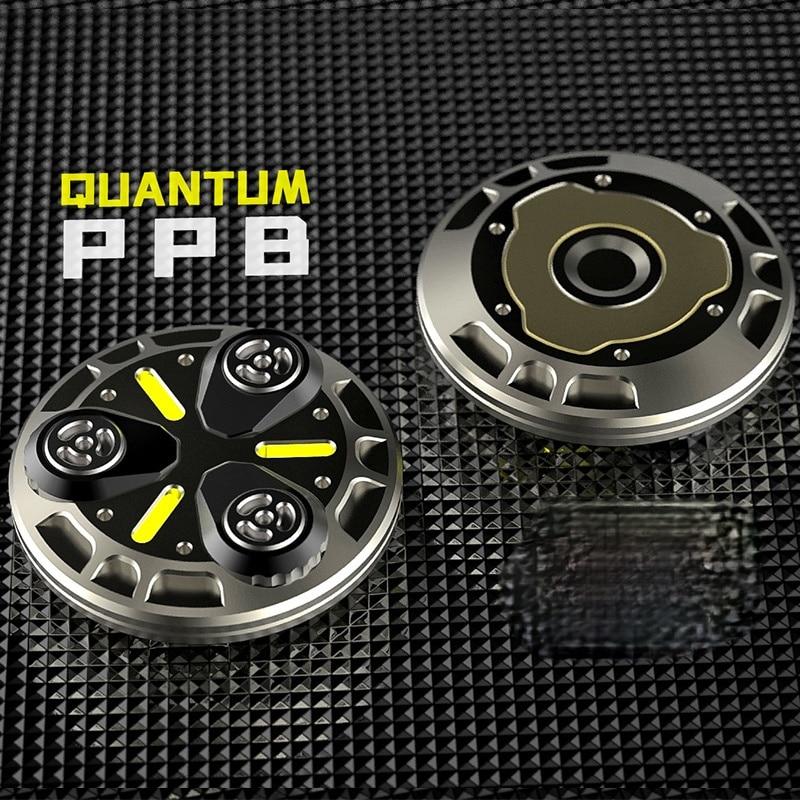 Quantum PPB Coin 2020 Luminous Fiber Propeller Ppb Magnetic Sound Coin Tide Play Ammo Joint Mfedc Titanium Alloy
