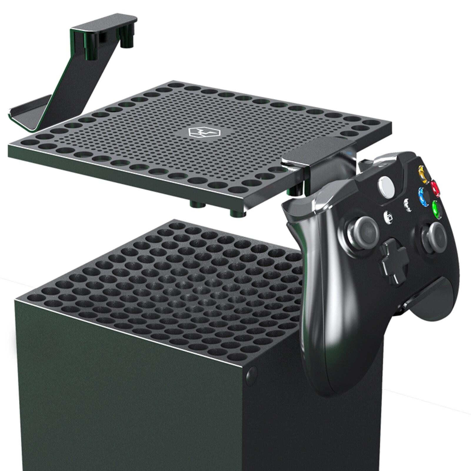 Ventilador multienfriador para Xbox Series X, cubierta antipolvo con auriculares, soporte de...