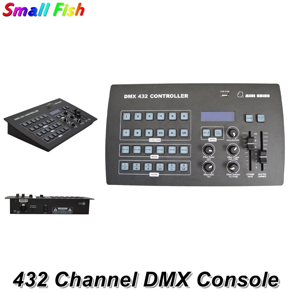 جهاز تحكم DMX 432 ، شحن مجاني ، جديد ، معدات Dj ، DMX 512 ، وحدة تحكم Rhino ، إضاءة المسرح لـ LED Par ، رأس متحرك Dj