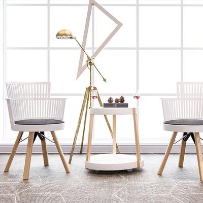 Nórdico moderno silla comedor simple diseñador creativo Silla de ocio pequeña familia Windsor neto silla roja