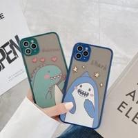 phone case for cartoon dinosaur shark phone case for iphone 12 x xs max xr 11 pro max cute anti fall cover