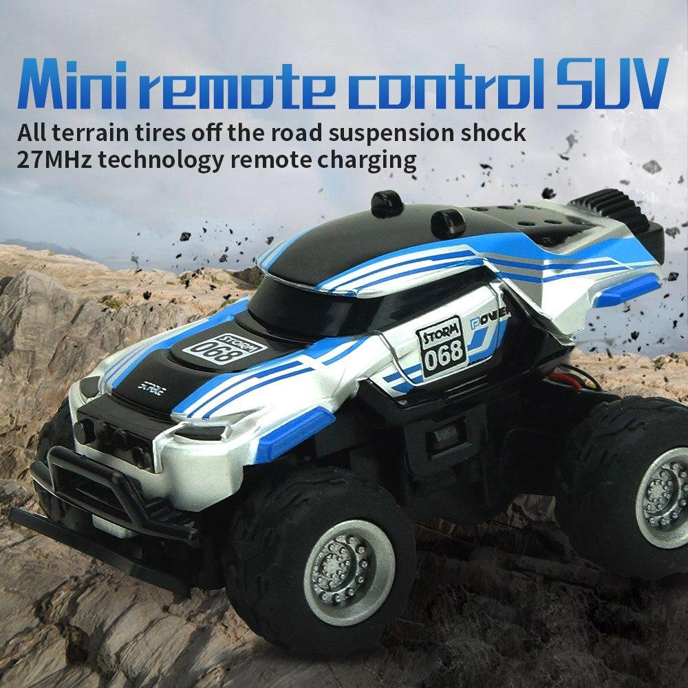 Novo bigfoot rc drift carro de alta velocidade mini carro de corrida de controle remoto veículo elétrico 4wd fora da estrada suv caminhão para o jogo interno brinquedo