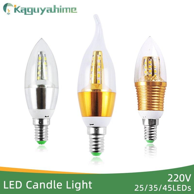 Kaguyahime-bombilla LED de aluminio E14, 3w, 9W, E14, 220V