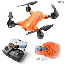 EBOYU H9 RC Drone WiFi FPV 4K HD Wide Angle Dual Cams Smart Follow Altitude Hold Gesture Photo Control RC Quadcopter Drone RTF