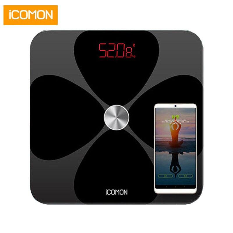 Hot Inteligente mi de Gordura Corporal Escala de Banheiro Digital Peso Balanças de Chão Balança Humana B mi Bluetooth Escala de Equilíbrio Sala Levou dom de vidro
