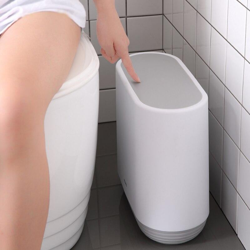 Trash Can New Anti-fallin Zero Waste Bin  For The Kitchen Bathroom Garbag Classification Narrow Trash Bucket Recycle Bin Dustbin enlarge