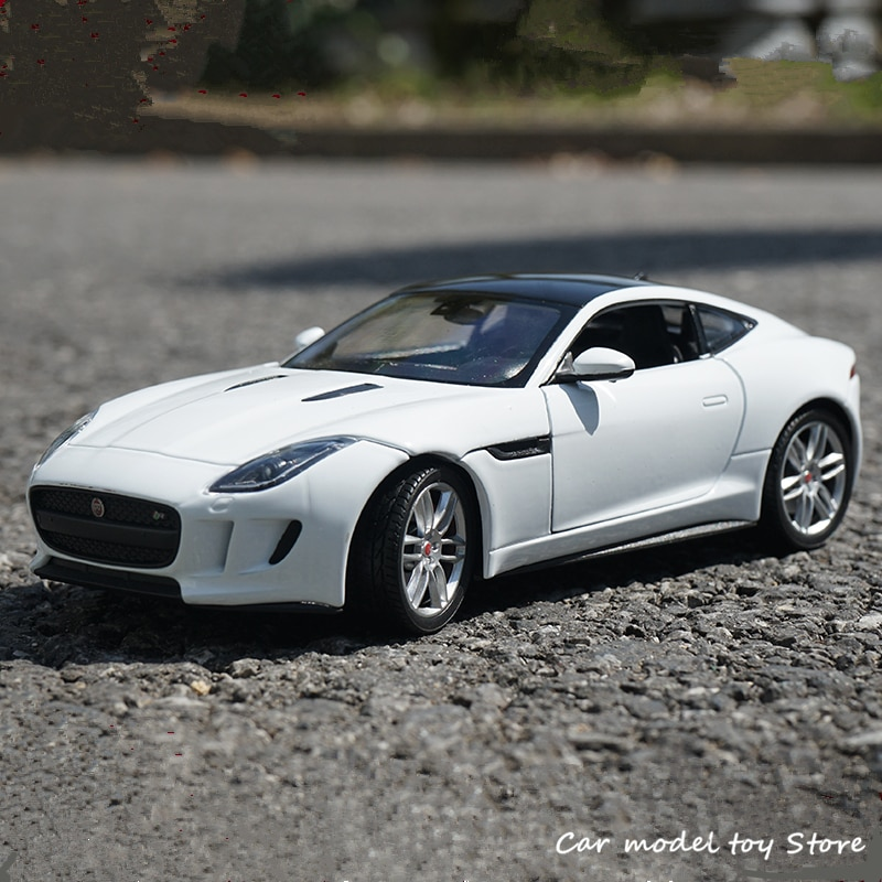 welly 24060 велли модель машины 1 24 jaguar f type WELLY 1:24 JAGUAR F-Type Coupe sports car simulation alloy car model crafts decoration collection toy tools gift