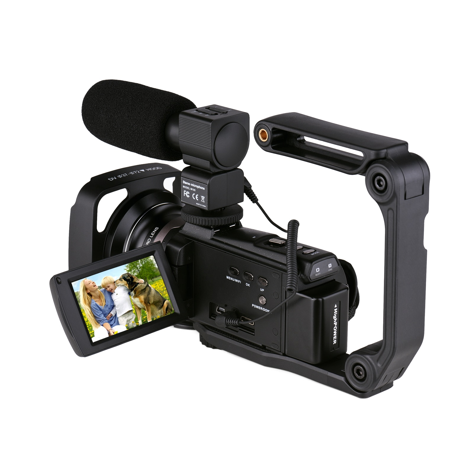 Andoer 4K 60FPS Ultra HD Digital Video Camera DV Camcorder 48MP 16X Zoom 3-inch Rotatable LCD Touch Screen WiFi IR Night Vision