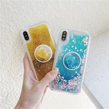 Sequins Glitter Phone Holder Case For Samsung Galaxy J3 J5 J7 J4 J6 J8 J2 Prime A5 A7 2016 2018 S6 S7 Edge S8 S9 Plus Cover