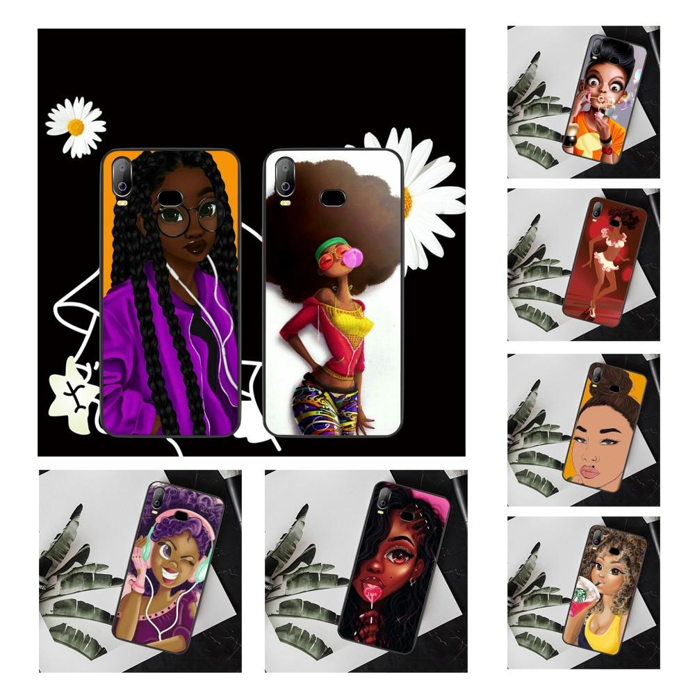 NBDRUICAI Black African Art melanin poppin Custom Photo Phone Case For Samsung A10 A20 A30 A40 A50 A70 A7 A9 A6 A8 Plus 2018