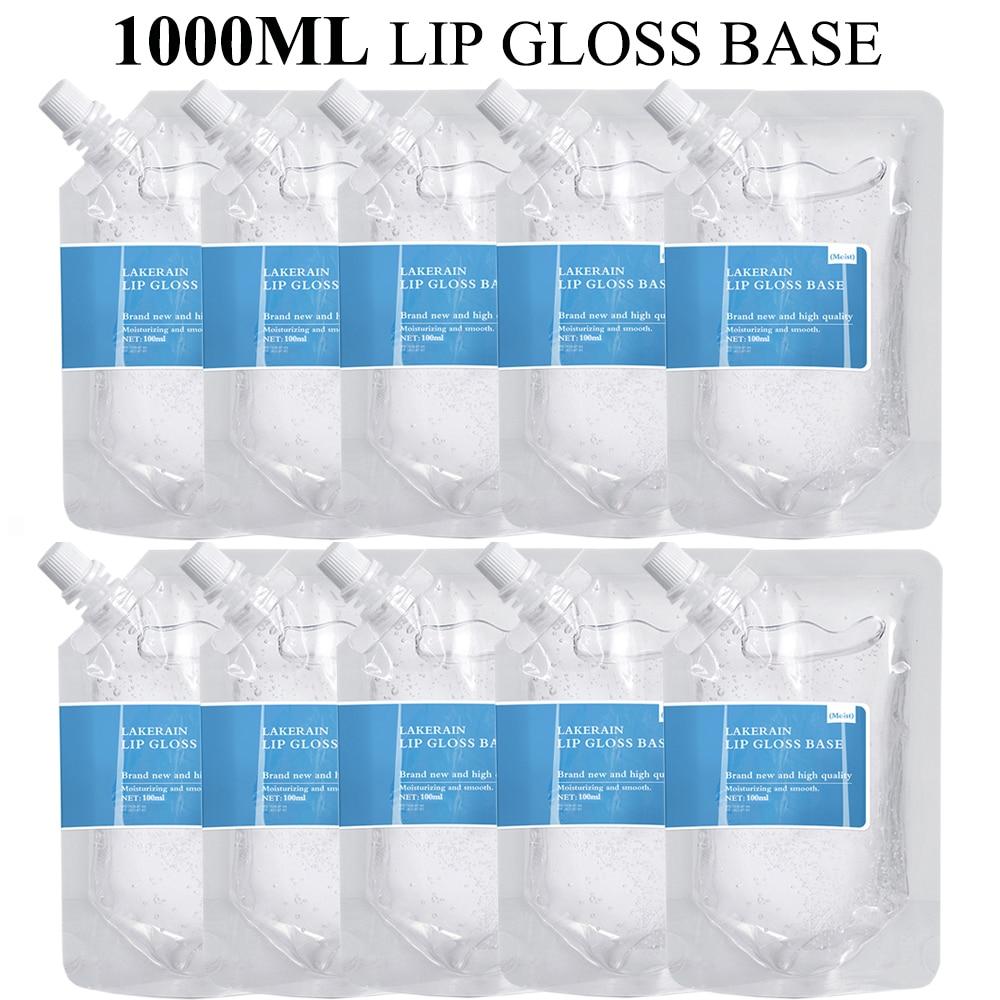 1000ml Clear Lip Gloss Base Gel in Bulk DIY Moisturizing Lipstick Material Gel Handmade Lip Gloss Wholesale Lipgloss Business недорого