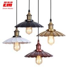 Noir vintage industriel suspension feuille de Lotus nordique rétro lumières fer abat-jour loft edison lampe métal salle à manger ZDD0027