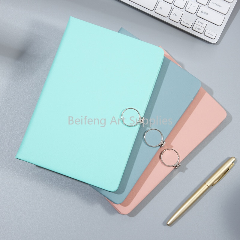 A5 Journal Notebook 200 Pages Super Thick Wax Sense Leather Daily Business Office Work Notebooks Notepad Diary School Supplies