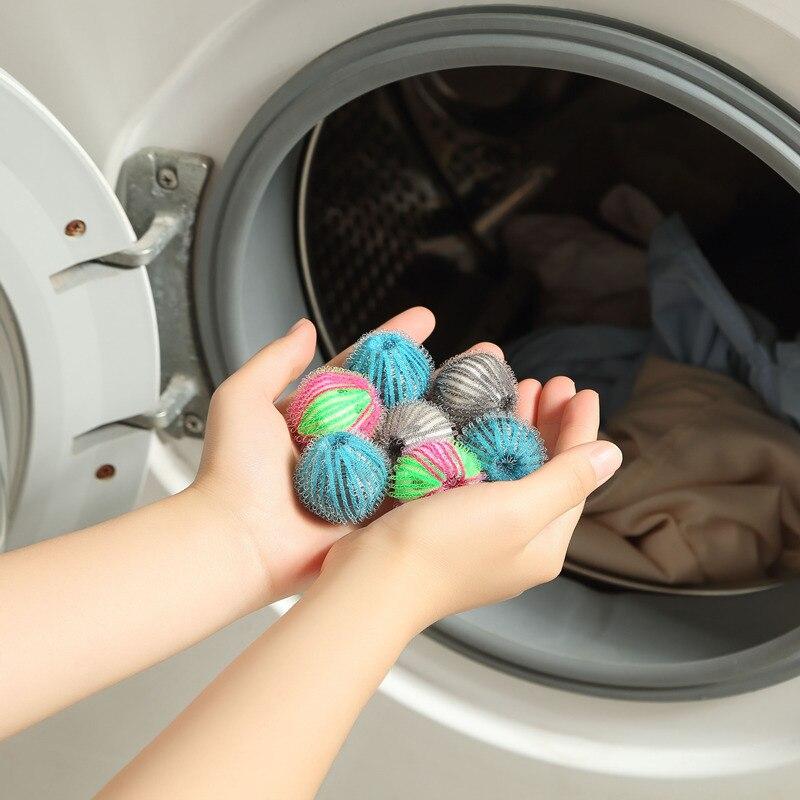 5pcs nylon laundry ball decontamination washing machine washing and protecting ball sticking and rem