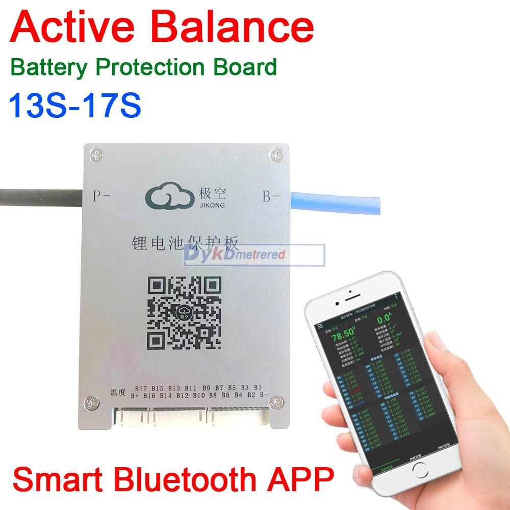 DYKB-لوحة حماية البطارية 13S-17S 60A ، BMS 14S 16S 17S ، تطبيق Bluetooth الذكي Lifepo4 li-ion LTO 48V 60V