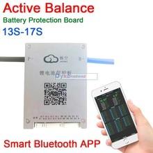 DYKB 13S-17S 60A 액티브 밸런스 배터리 보호 보드 BMS 14S 16S 17S 스마트 블루투스 APP Lifepo4 리튬 이온 LTO 48V 60V