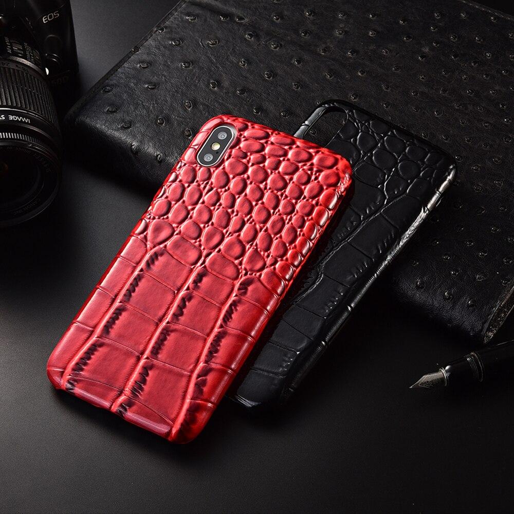Ultra cienka skóra krokodyla tylna obudowa z ekologicznej skóry dla XS Max XR miękkie etui na telefon dla iPhone11 11Pro 11promax okładka