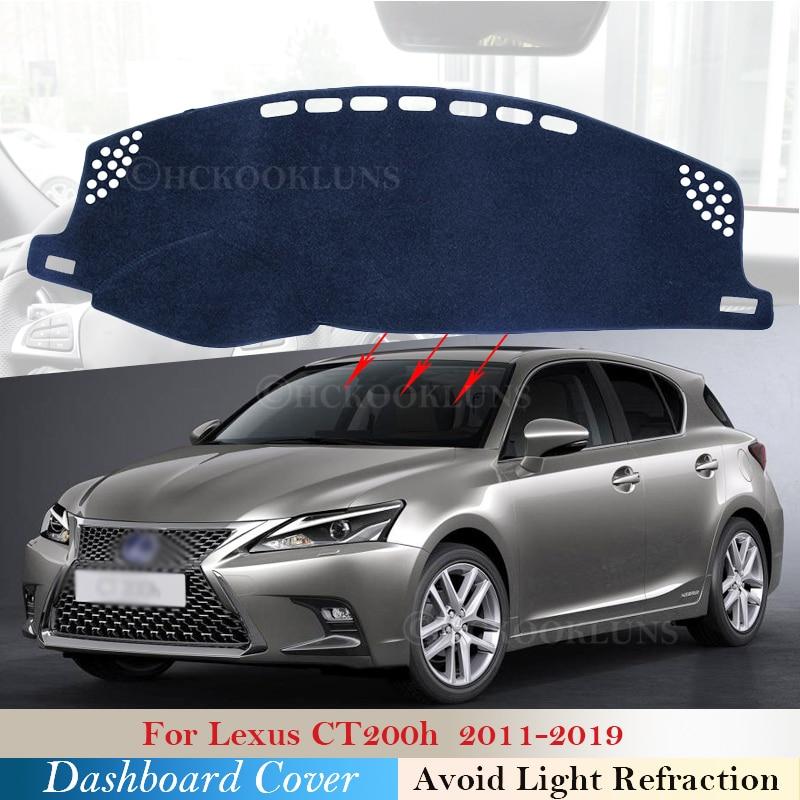 Housse de tableau de bord protection pour Lexus CT200h 2011 ~ 2019 CT 200 200h F Sport voiture accessoires tableau de bord parasol tapis 2018