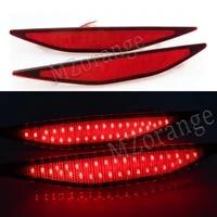 miziauto 2pcs rear bumper light for golf 7 2013 2015 for volkswagen rear reflector brake lamp car accessories red lens