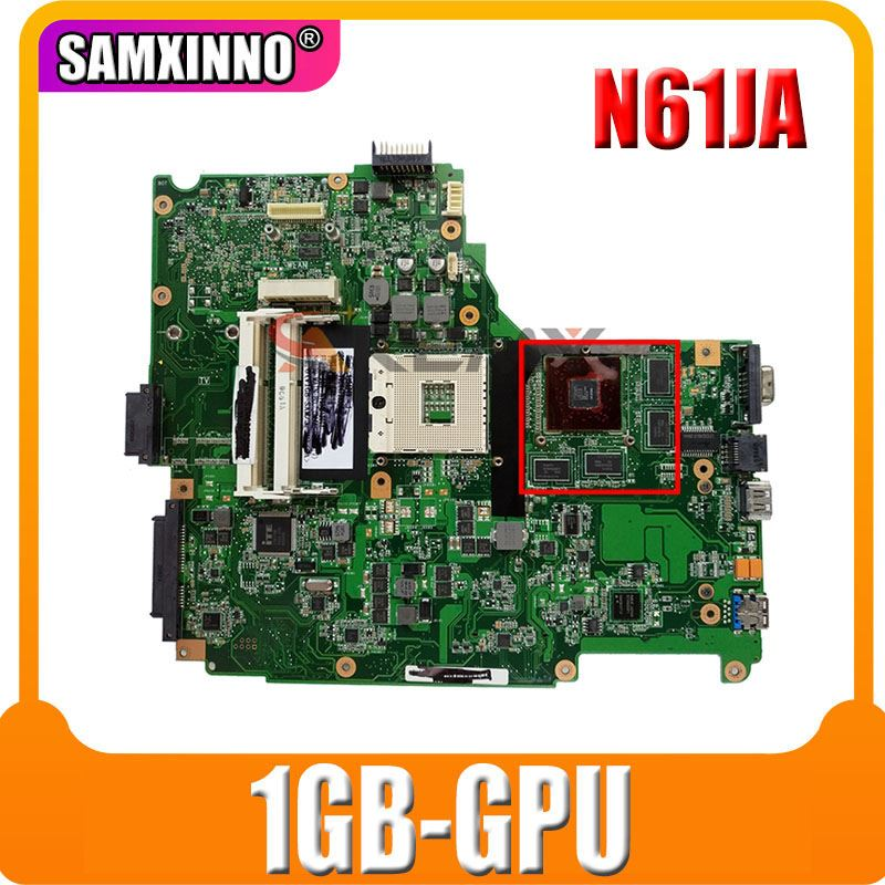 N61JA اللوحة 1GB-GPU ل ASUS N61J N61JQ N61JN N61JA laptop mainboard اختبار 100% موافق
