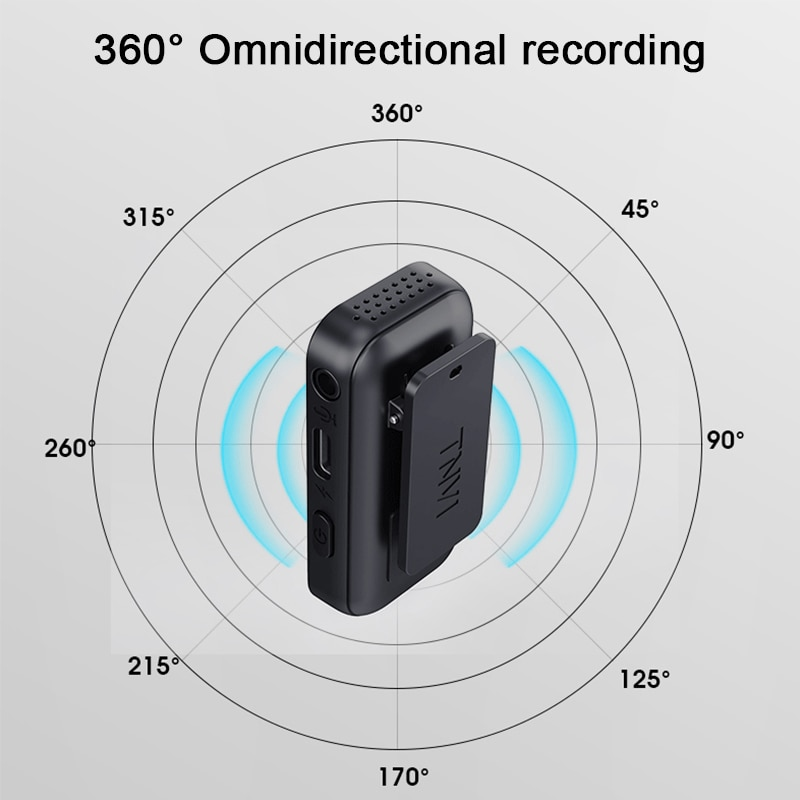 Portable Wireless Lavalier Microphone System 50m Range Interview Vlog Live Recording for iPhone Android ipad Camera mini Mic enlarge