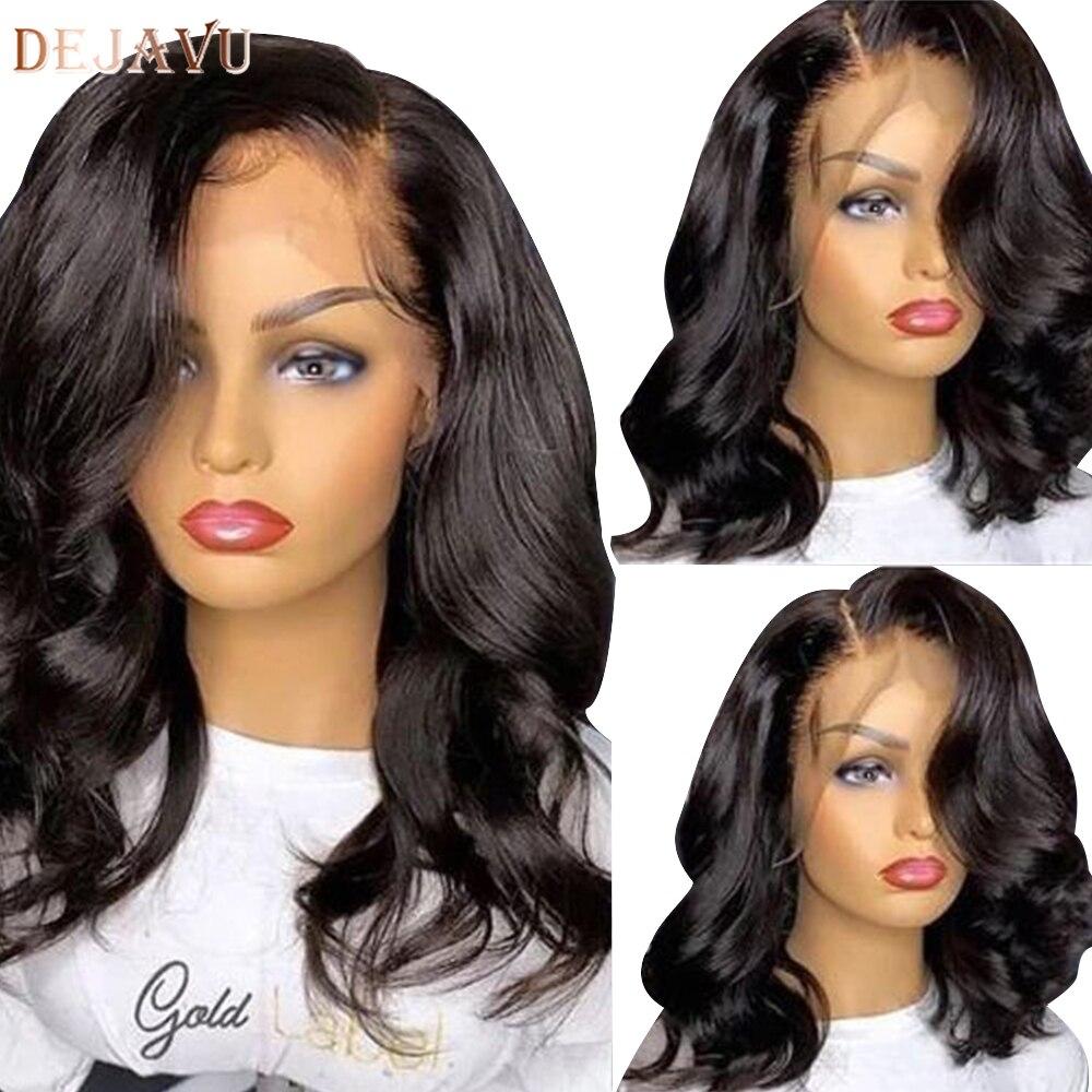 Dejavu Body Wave Lace Front Human Hair Wigs Remy Peruvian Hair Body Wave Wig 130 Density 13X4 Lace Front Wigs For Black Women