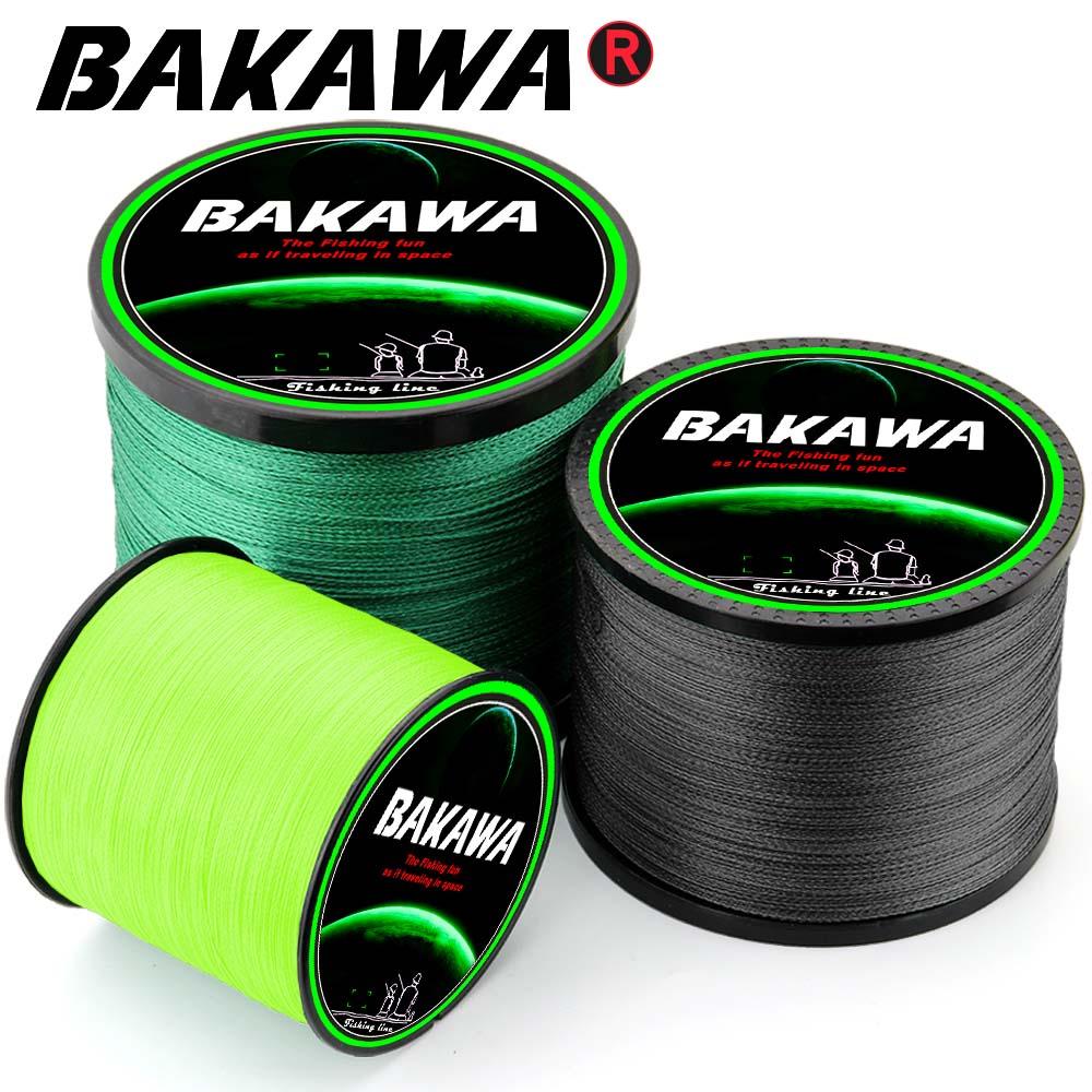 BAKAWA Braided Fishing line Pesca 4 Strands Carp Multifilament Fly Wire Japanese 100% Pe Line Saltwater 300M 500M 1000M New