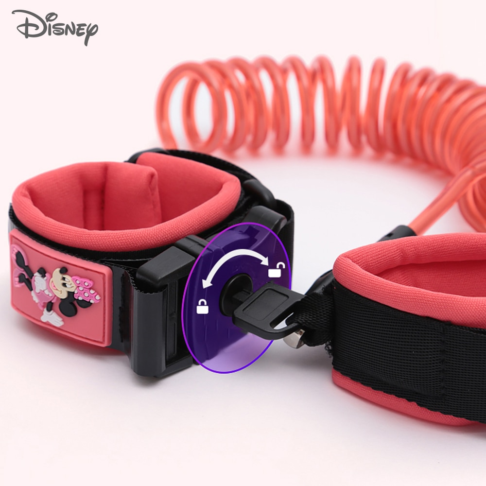 Cuerda de tracción para niños Disney, pulsera antipérdida para bebés, cuerda antipérdida a 1,8 metros, cinturón de seguridad para niños antipérdida